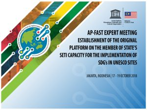 The Expert Meeting on Establishment of the Regional Platform on the Member State's SETI Capacity for the Implementation of SDGs in UNESCO Site