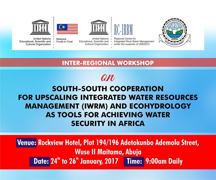 Inter-Regional Workshop on South-South Cooperation for Upscaling IWRM and Ecohydrology as Tools for Achieving Water Security in Africa