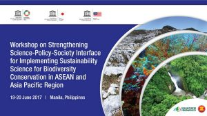 Workshop on Strengthening Science-Policy-Society, Manila